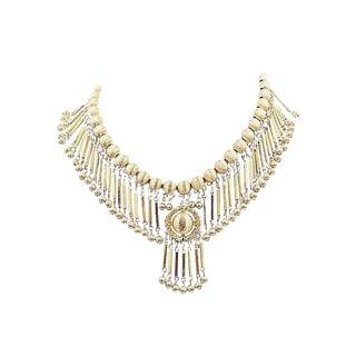 Monet Goldtone Fringe Necklace, 1971 For Sale