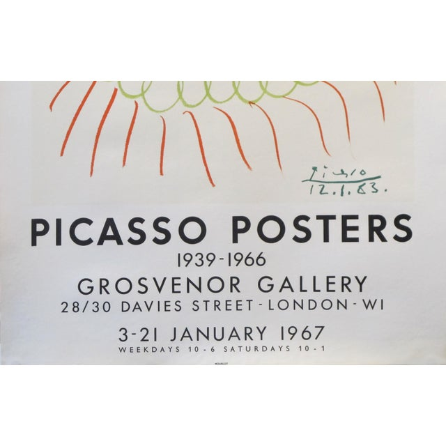 Figurative 1967 Picasso Exhibition Poster, London For Sale - Image 3 of 4