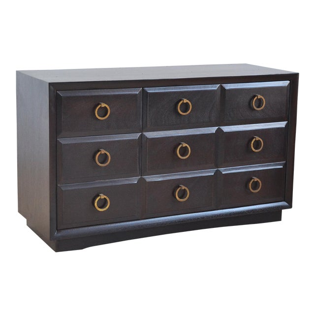 Widdicomb Cabinet with Brass Pulls For Sale