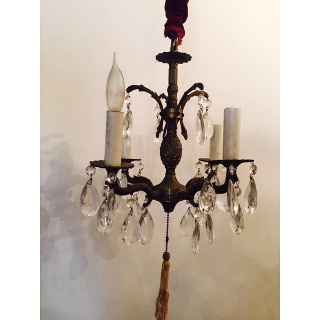 Victorian Antique Brass Pineapple Chandelier - Image 6 of 6