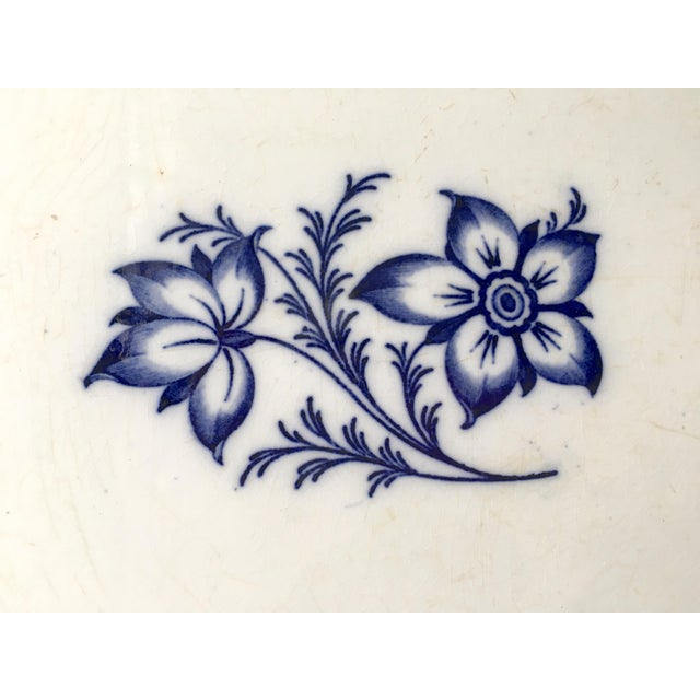 This antique shaped oval ironstone platter was made by the famous Minton Pottery in England in the mid 19th century. It is...