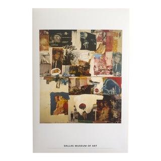 """1964 Robert Rauschenberg Original Offset Lithograph Print Poster """"Skyway"""" For Sale"""