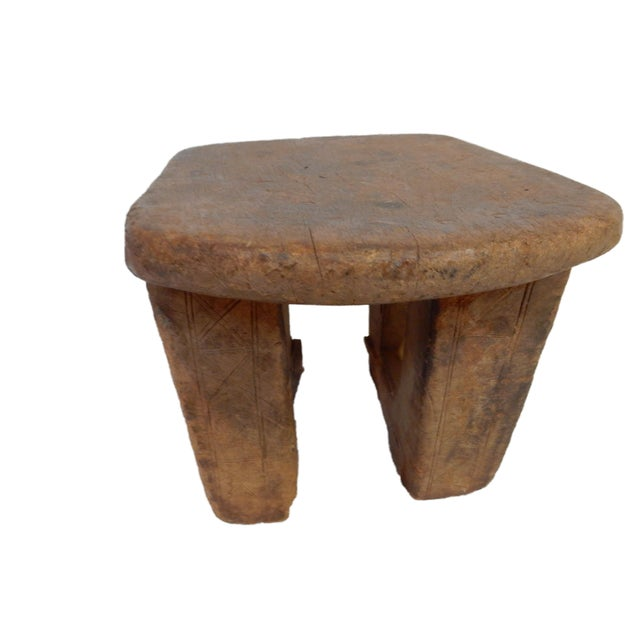 Bamileke Low Milk Stool Cameroon For Sale - Image 5 of 7