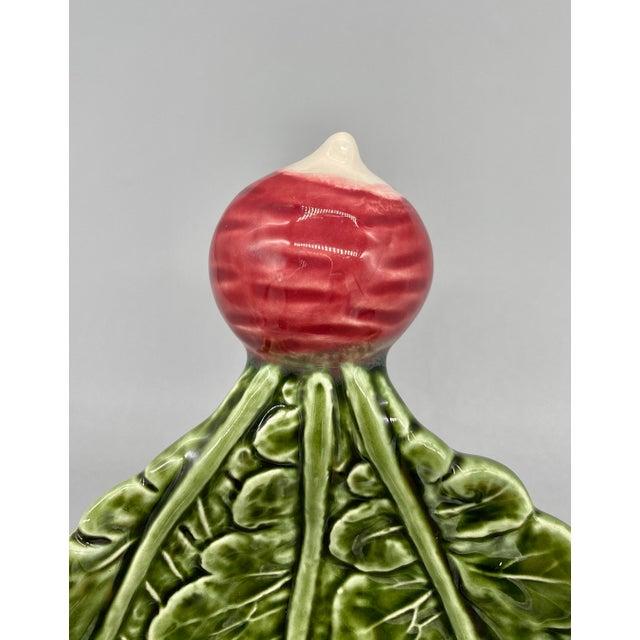 Ceramic 20th Century Majolica Radish Vegetable Platter/Dish For Sale - Image 7 of 10
