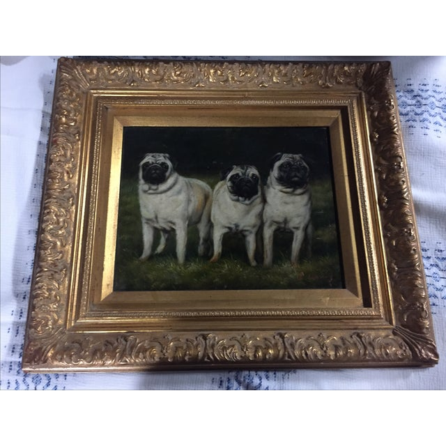 "Oil on board, framed in gilt frame. Signed by the artist. Unframed size: H7.5""xW9.5"""