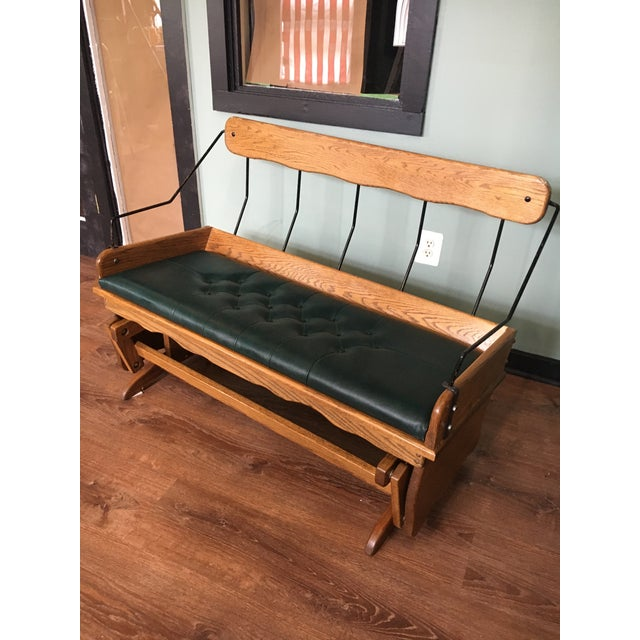 Antique Carriage Seat Glider Bench For Sale - Image 13 of 13