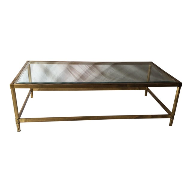 Vintage Brass And Glass Coffee Table Chairish