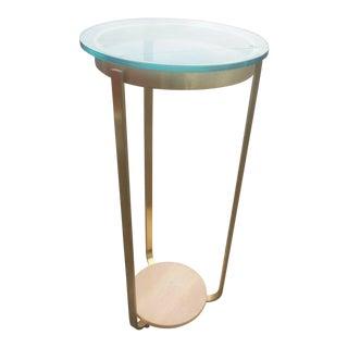 Mid-Century Modern Brass & Glass Sculpture Pedestal / Plant Stand For Sale