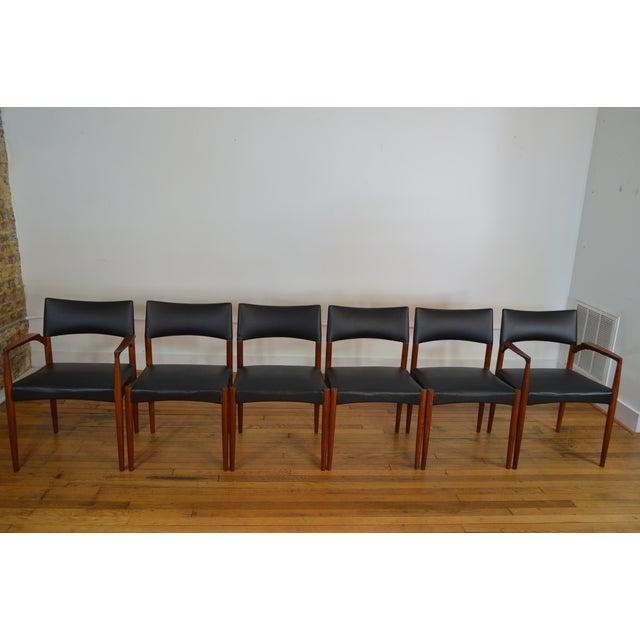 Ejner Larsen & Aksel Bender Madsen for Willy Beck Danish Teak Dining Chairs- Set of 6 - Image 3 of 7