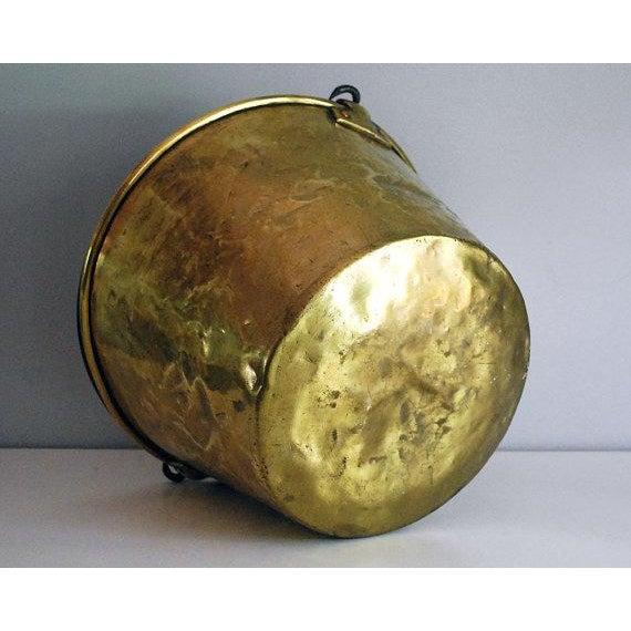 Antique Brass Bucket / Firewood Holder / Cauldron - Image 6 of 6