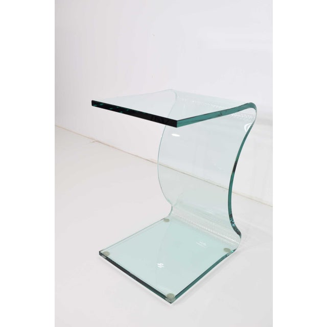 2000 - 2009 L. Fife Signed Glass Side Table For Sale - Image 5 of 12