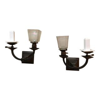 Arts & Crafts Electric Gas Sconces - A Pair For Sale
