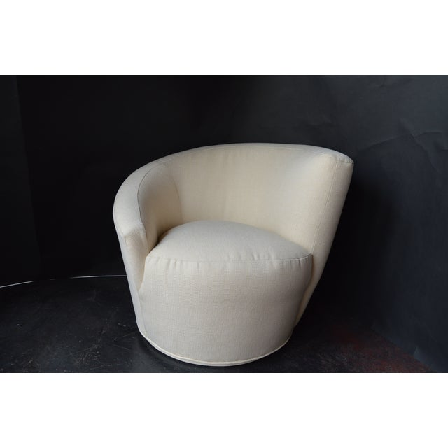 Mid-Century Modern Vladimir Kagan Swivel Chairs - a Pair For Sale - Image 3 of 11