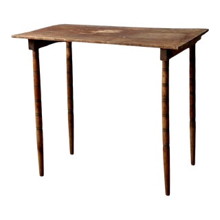 Antique Wooden Folding Table For Sale