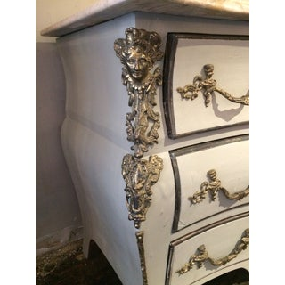 Louis XIV Style Painted Serpentine Three Drawer Chest Preview