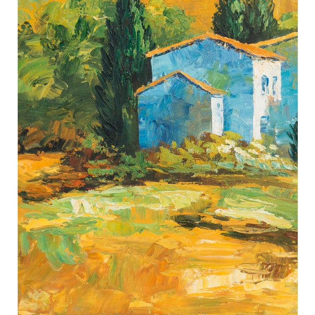 M. Vanly Tuscan Summer Landscape Oil Painting - Image 5 of 6