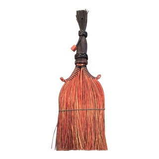 Ethnic Hand Stitched Leather Bound Brush For Sale