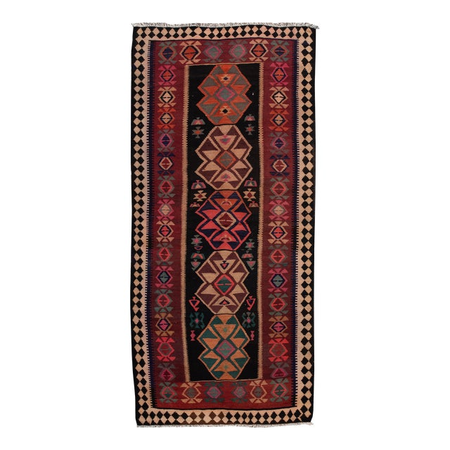"Mid-20th Century Vintage Kilim Runner Rug 5' 1"" X 12' 2''. For Sale"