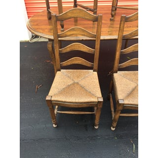 French Country Walnut Table & 4 Chairs Preview