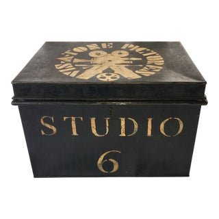 Vintage Tin Trunk For Sale