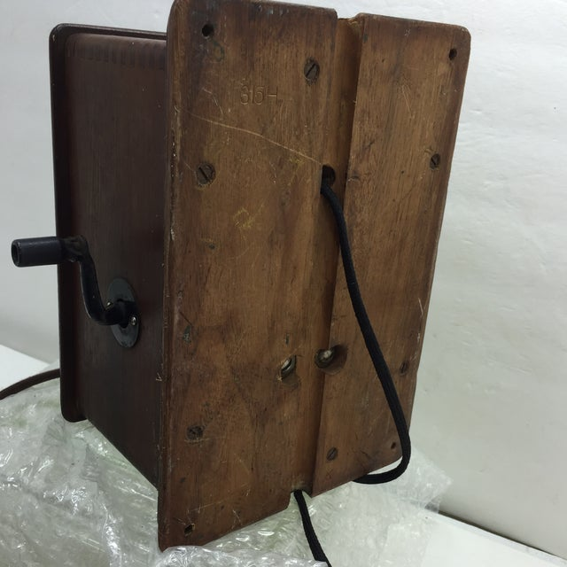 Antique 1920s Western Electric A1 Rotary Dial Telephome - Image 9 of 11