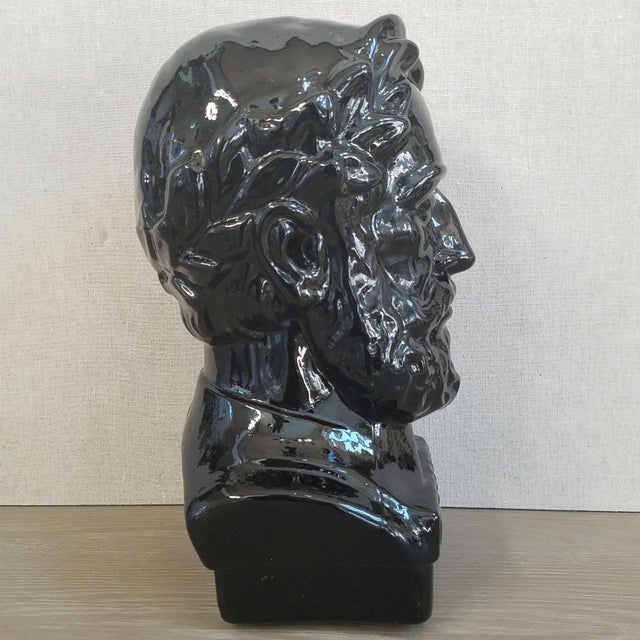 """A striking and sizeable Mid Century bust of the poet """"Camoes"""" made by """"Ingrid Glass"""" of West Germany. The glass is quite..."""