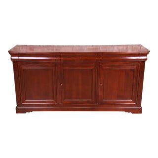 Grange French Provincial Cherry Wood Sideboard Credenza or Bar Cabinet For Sale
