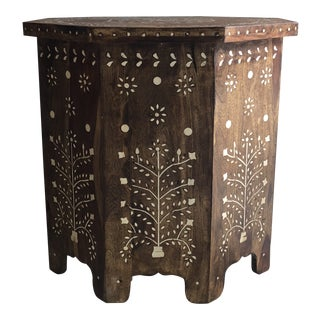 Moroccan Inspired Bone Inlay Side Table