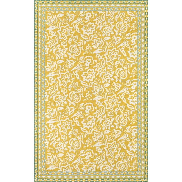Madcap Cottage Under a Loggia Rokeby Road Yellow Indoor/Outdoor Area Rug 5' X 8' For Sale