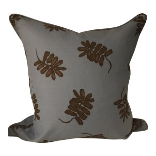 Sky Blue and Brown Pattern Pillow Cover For Sale
