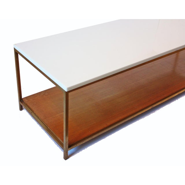 Paul McCobb Mid-Century Bronze and Vitrolite Coffee Table by Paul McCobb For Sale - Image 4 of 5