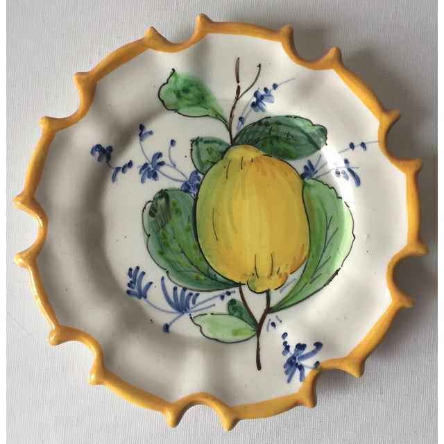 Ceramic 6 Italian Faience Hand-Painted Coasters For Sale - Image 7 of 10