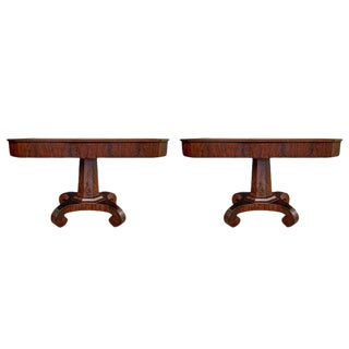 Gorgeous Pair of American Empire Console Tables For Sale