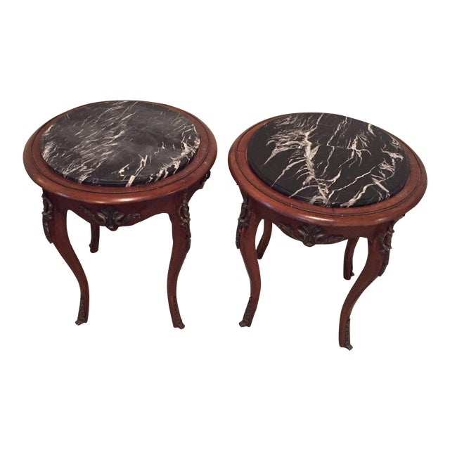 Antique French Side Tables - A Pair - Image 1 of 9