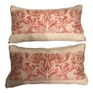 Fortuny Accented Lumbar Pillows - A Pair For Sale