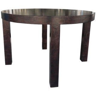 Gorgeous Brown Parchment Dining Table From Steve Chase Designed Estate For Sale