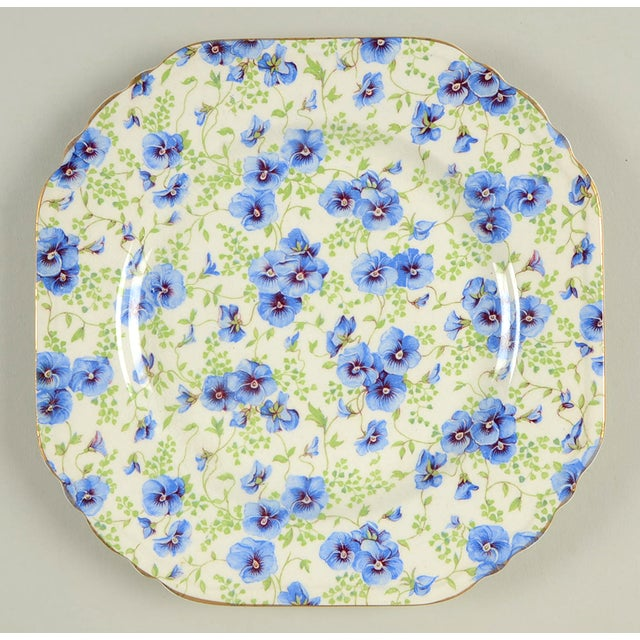 Lord Nelson Pansy Chintz Square Plate For Sale In Greensboro - Image 6 of 6