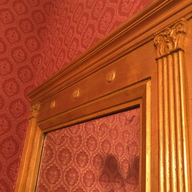 Gold Burnished Gold Gilt Wood Beveled Mirror For Sale - Image 8 of 10