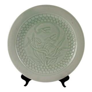 Scott Malcolm Celadon Art Pottery Plate For Sale