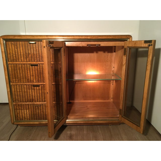 American of Martinsville Lighted Bar Cabinet - Image 7 of 10