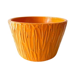 1970s Mid-Century Modern David Cressey for Architectural Pottery Textured Planter For Sale