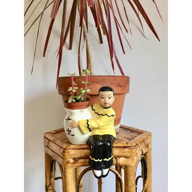 Ceramic Asian Figurine Planter For Sale - Image 7 of 7