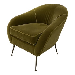 Mid Century Chair With Mohair Upholstery For Sale