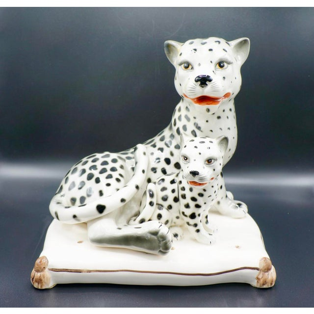 Italian Hand-Painted Snow Leopards For Sale - Image 11 of 11