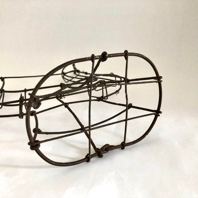 1950s Vintage Wire Topiary in the Shape of a Lyre For Sale - Image 11 of 13