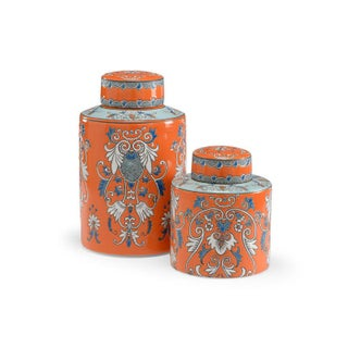 Pair of Persimmon Canisters Preview
