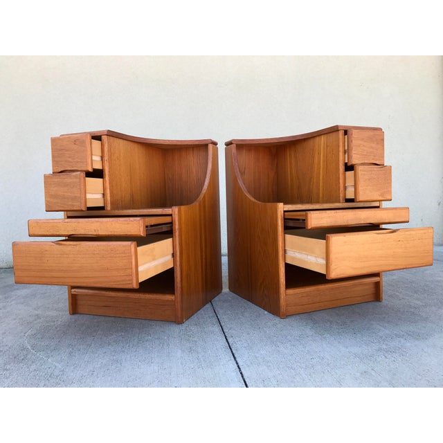 Danish Modern Teak End Tables- A Pair - Image 3 of 11