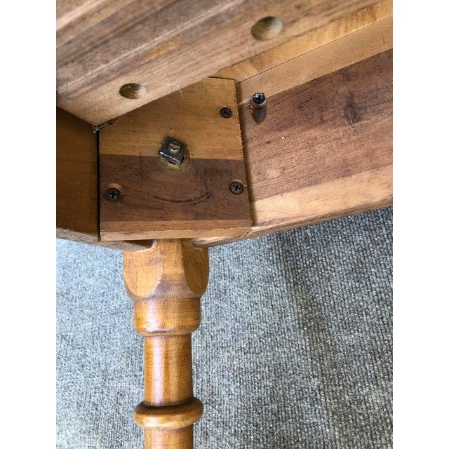 Vintage Sibley Lindsay & Curr Co. Drop Leaf Kitchen Table For Sale - Image 10 of 13