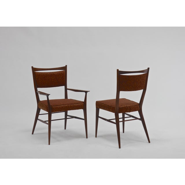 Brown Eight Dining Chairs by Paul McCobb For Sale - Image 8 of 8