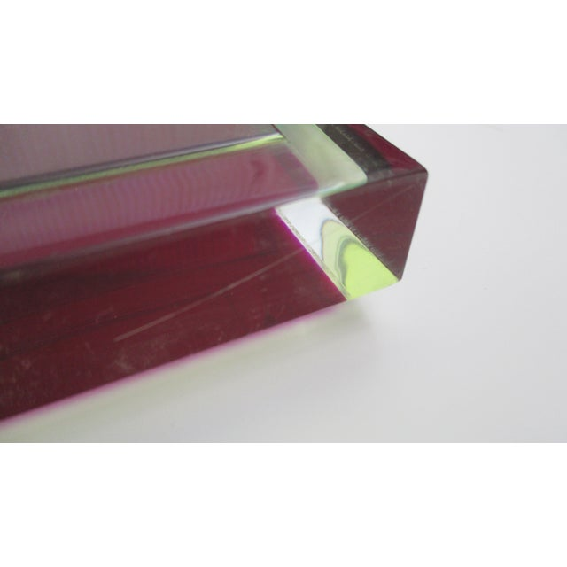 Abstract Vasa Velizar Mihich Style Lucite Paperweight Sculpture Block For Sale - Image 3 of 13